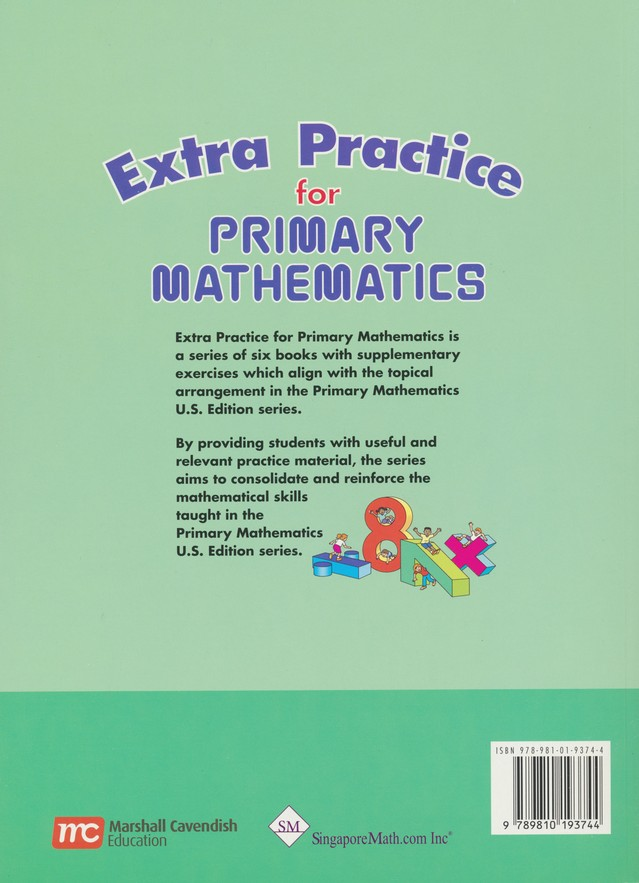 Singapore Math, Extra Practice for Primary Math U.S. Edition 2