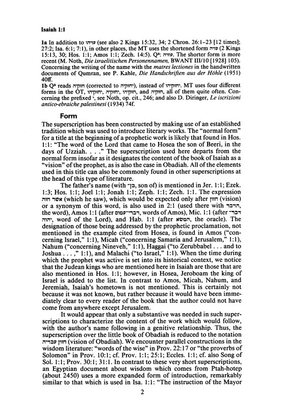 Isaiah 1-12: Continental Commentary Series [CCS]