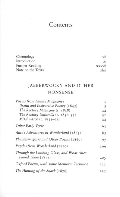 Jabberwocky And Other Nonsense The Collected Poems Of Lewis Carroll Clothbound Gift Edition