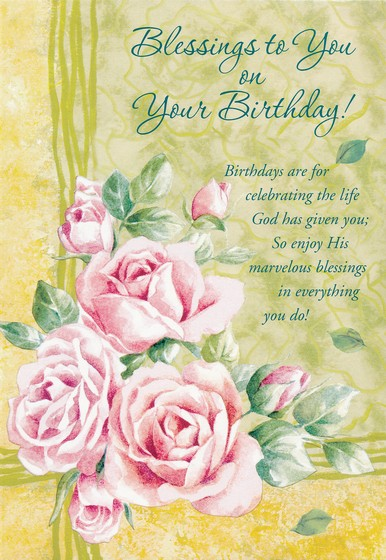 Bless Your Day Birthday Cards, Box of 12