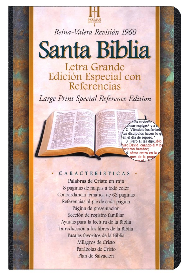 RVR 1960 Large Print Special Reference Bible, Black Bonded Leather