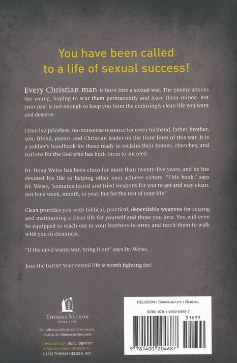 Clean A Proven Plan For Men Committed To Sexual Integrity Doug
