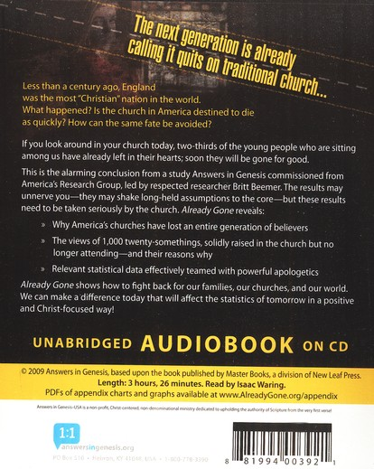 Already Gone: Why your kids will quit church and what you can do to stop it Audio Book on CD