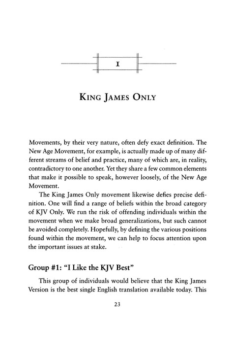 The King James Only Controversy, Revised Edition