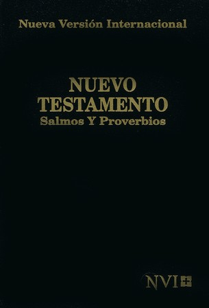 Nuevo Testamento de Bolsillo NVI, Salmos y Proverbios, Negro  (NVI Pocket New Testament, Psalms & Proverbs, Black)