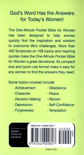 NKJV One-Minute Pocket Bible for Women