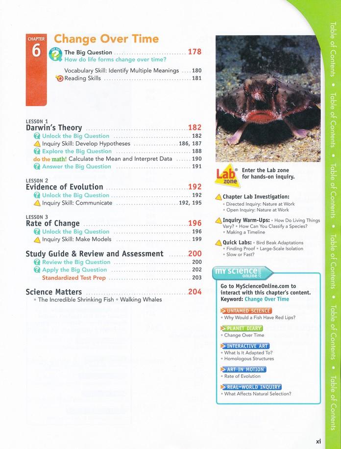 Interactive Science Life Science Student Workbook Grades 6 8