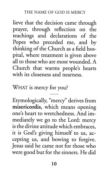 The Name Of God Is Mercy Large Print A Conversation With Andrea