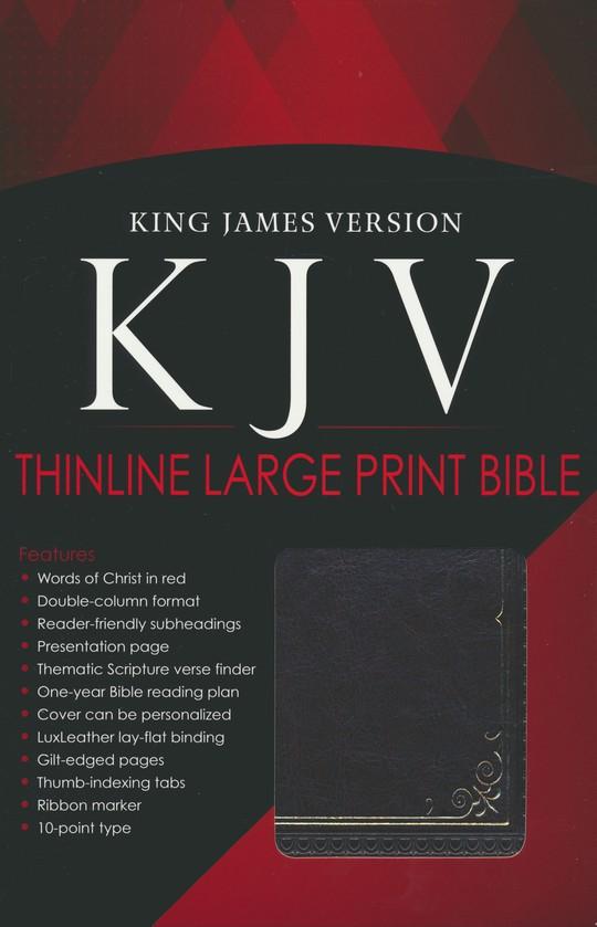 KJV Bible, Lux Leather, Large Print, Brown