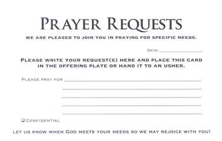 prayer request templates Prayer Request Cards, 50 - Christianbook.com