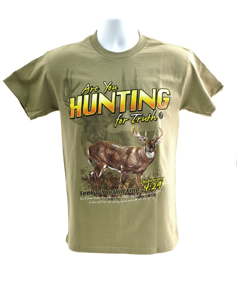 Are You Hunting for Truth Shirt, Tan, Large