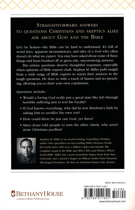 100 Tough Questions About God And The Bible Stephen M Miller 9780764211621 Christianbook Com