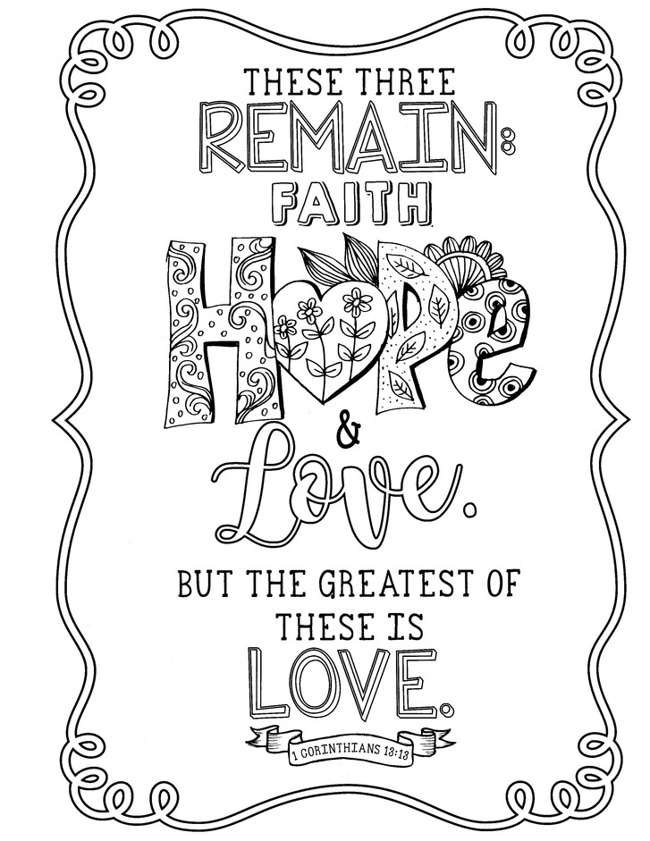 Faith Hope Love Coloring Book 9781432127329 Christianbook Com