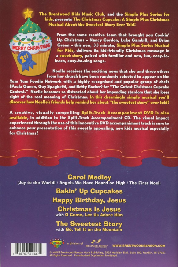The Christmas Cupcake (Choral Book)