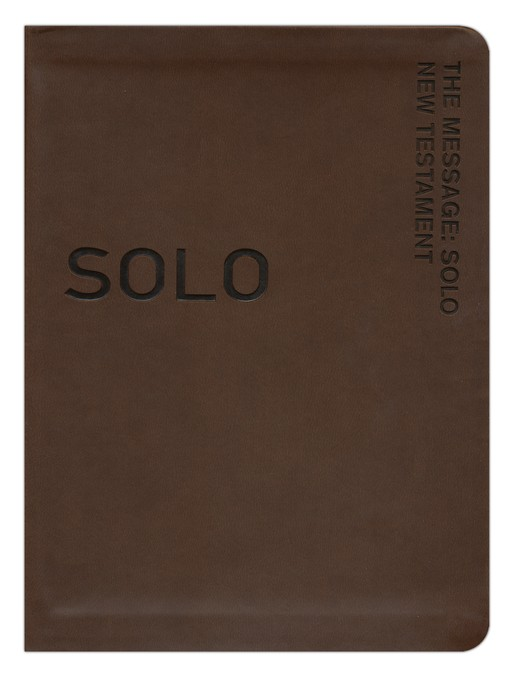 The Message Remix Solo New Testament, Brown Imitation Leather