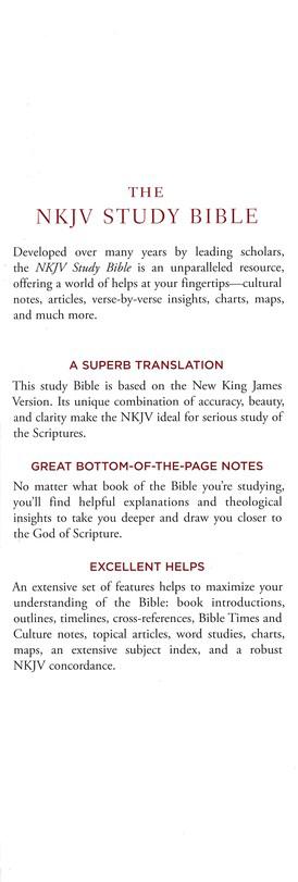 NKJV Comfort Print Study Bible, Hardcover