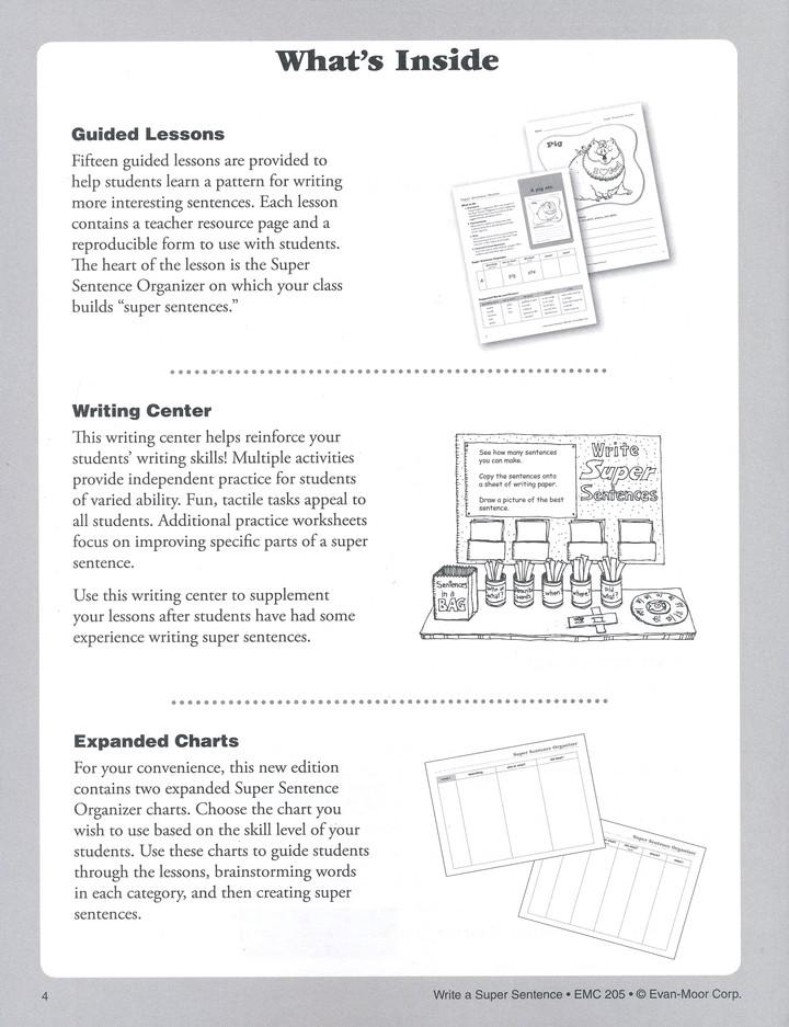 Book write a super sentence how to prepare the resume