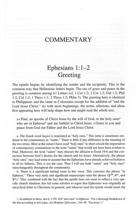 Ephesians: A Commentary