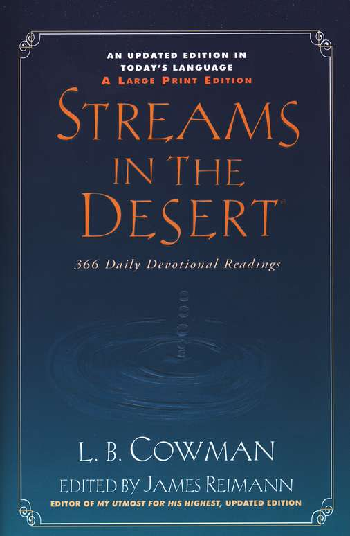 Streams in the Desert, Revised--Large Print Trade Paperback