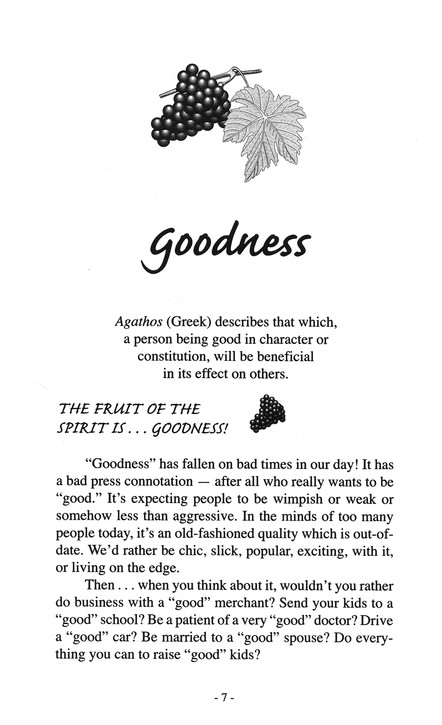 Goodness: Nine Fruits of the Spirit Series