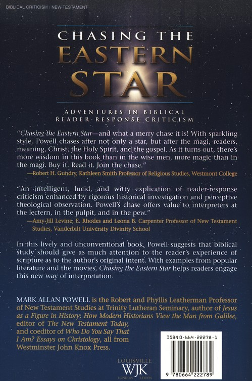Chasing the Eastern Star: Adventures in Biblical Reader Response Criticism