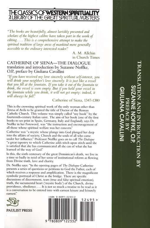 Catherine of Siena: Dialogue (Classics of Western Spirituality)