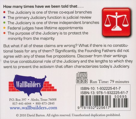 5 Judicial Myths: Restoring a Constitutional Judiciary Audiobook on CD