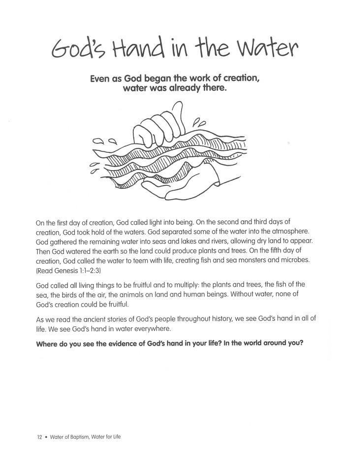 water of baptism, water for life: an activity book: anne kitch:  9780819227829 - christianbook com