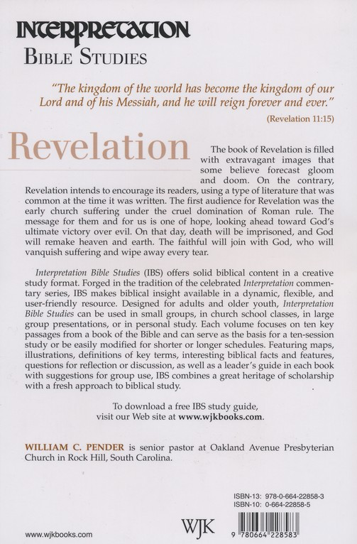 immersion bible studies revelation yieh john y h brinton henry g