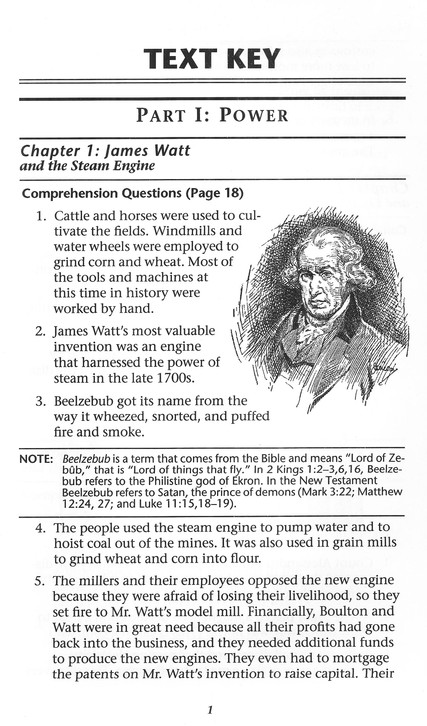The Story of Inventions, Second Edition, Answer Key, Grade 6