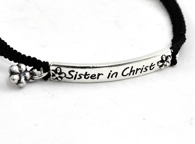 Sisters in Christ Bracelet Silver