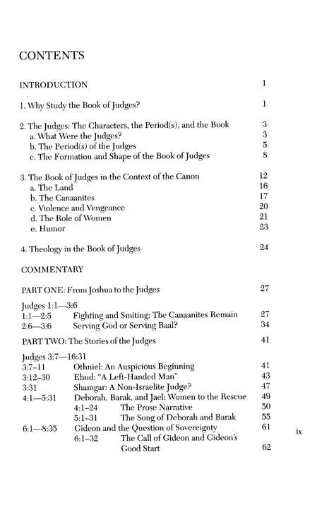 Judges, Interpretation Commentary