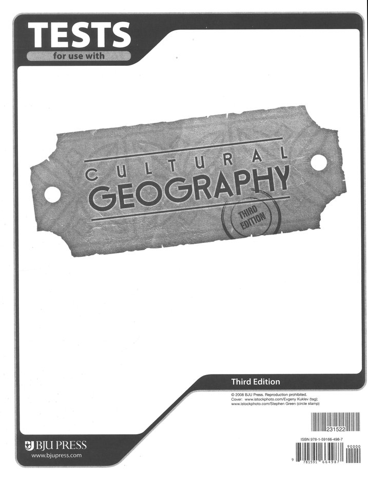 BJU Geography Tests Grade 9 (Third Edition)