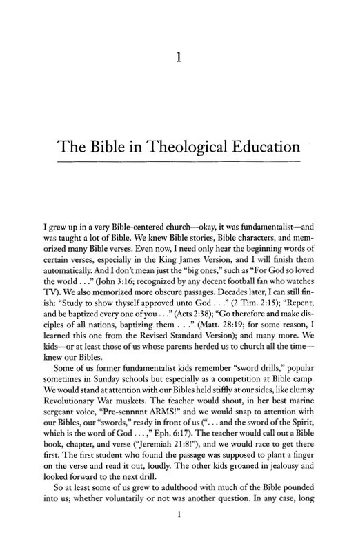 Pedagogy of the Bible: An Analysis and Proposal
