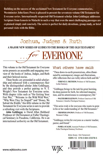 Joshua, Judges, & Ruth for Everyone  (Old Testament for Everyone)