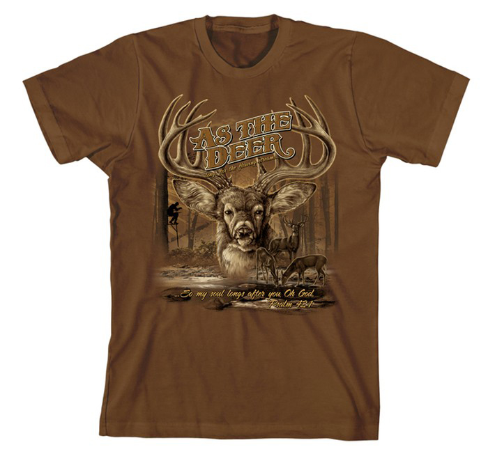 As the Deer II Shirt, Brown, XX Large