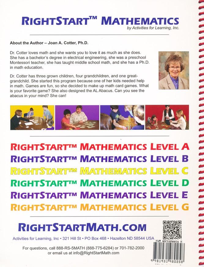 Rightstart Mathematics Starter Kit Level A 1st Edition