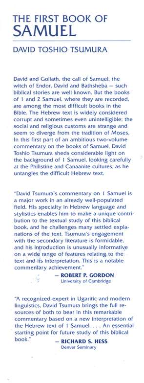 The First Book of Samuel: New International Commentary on the Old Testament  [NICOT]