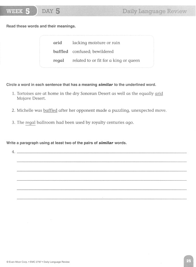Daily Language Review Grade 7 (Revised Edition)