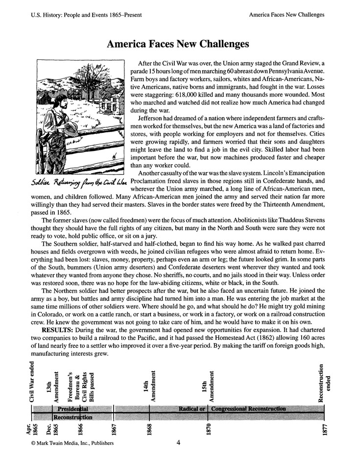 Mark Twain Media Inc Publishers Social Studies Worksheets ...