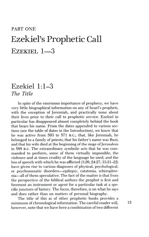 Ezekiel: Interpretation Commentary