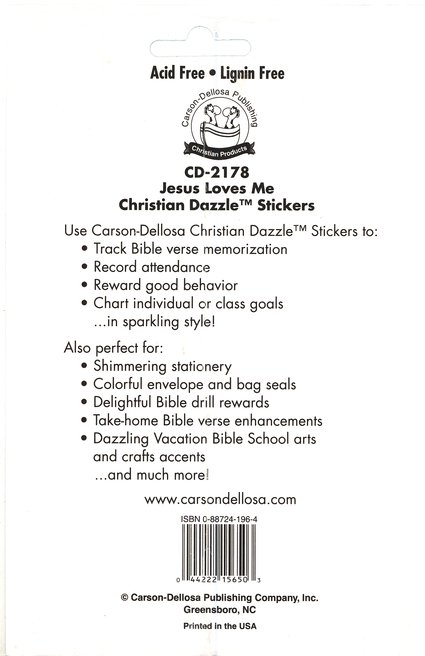 120 Self-Adhesive Jesus Loves Me Stickers