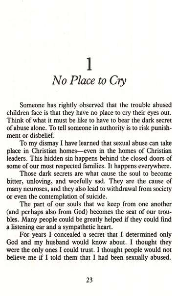 No Place to Cry: The Hurt & Healing of Sexual Abuse