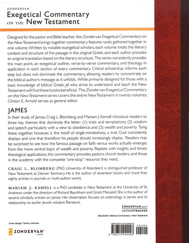James: Zondervan Exegetical Commentary on the New Testament [ZECNT]