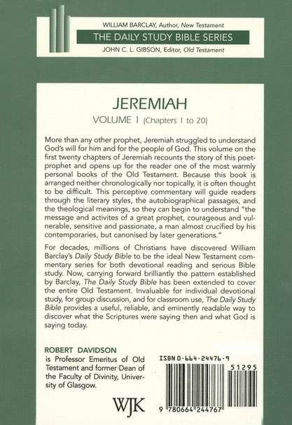Jeremiah, Volume 1: Daily Study Bible [DSB] Chapters 1-20