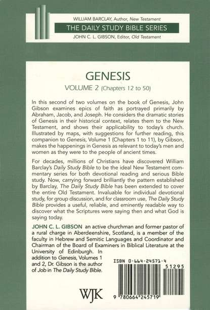 Genesis, Volume 2: Daily Study Bible [DSB] Chapters 12-50