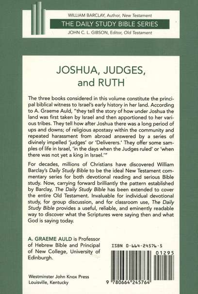 Joshua, Judges, and Ruth: Daily Study Bible [DSB]