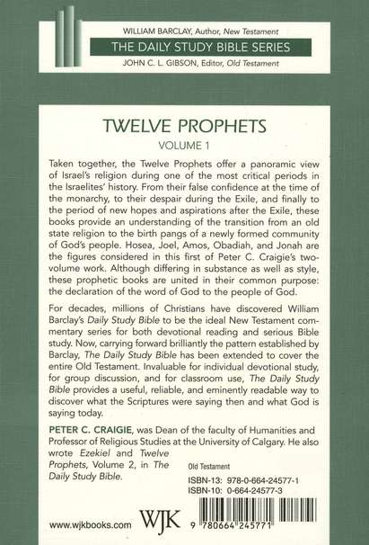 Twelve Prophets, Volume 1: New Daily Study Bible [NDSB]