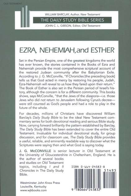 Ezra, Nehemiah, and Esther: Daily Study Bible [DSB]