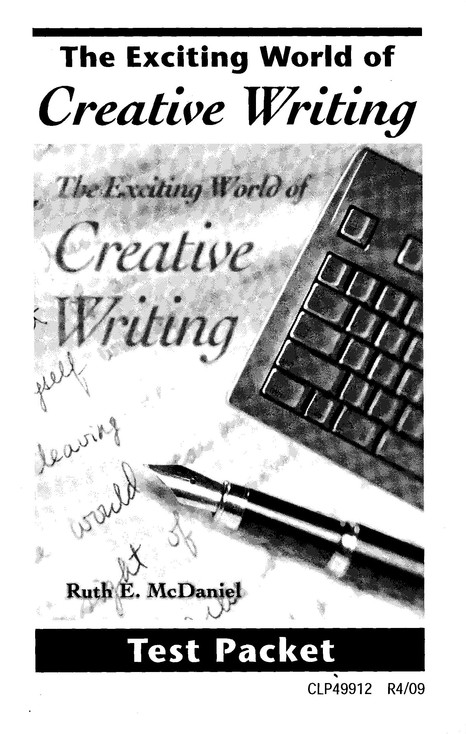 Exciting World of Creative Writing Test, Grades 7-12